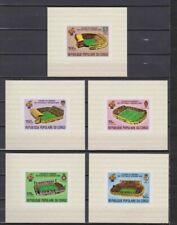 s5615) CONGO 1980 MNH** World Cup Football'82- CM Calcio S/S X5 IMPERF