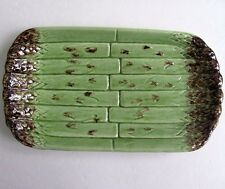 Vintage Bordallo Pinheiro Portugal Green Asparagus Serving Plate (s)