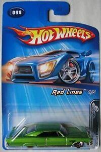 2005 HOT WHEELS Red Lines Pontiac Bonneville [Green] 4/5 #099