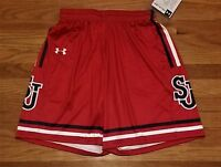 New Under Armour Women's M St. Johns Red Storm Armourfuse Game Short Red $80