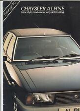 N°9999 /  catalogue CHRYSLER Alpine new for 1979