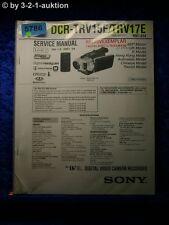 Sony service manual clés prévues trv15e/trv17e Level 2 digital video camera (#5786)