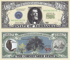 50 Nebraska NE State Quarter Novelty Money Bills Lot