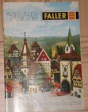 Faller  -- Modellbau  Katalog 1978/79  - 3-sprachig, engl-franz-niederl !
