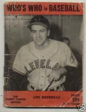 Who's Who in Baseball  1949  Lou Boudreau cover