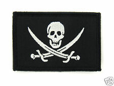 ill Gear CALICO JACK Pirate Skull & Swords Flag  Patch Glow in the Dark