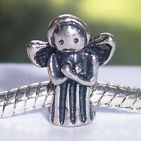 Guardian Angel Christmas Holiday Spacer Charm for European Bead Slide Bracelets