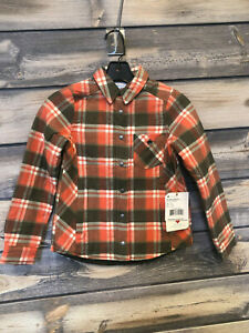Girl's Obermeyer TG Avery Flannel Jacket color Coral Berm Plaid size x-small XS