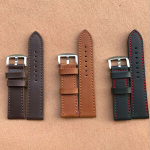 Unisex Genuine Leather Writst Watch Band Cowhide Watch Strap Band 18/20/22/24mm