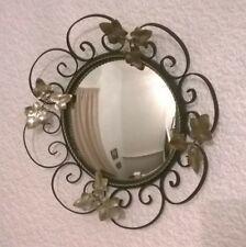 Vintage, Circular, Decorative Metal Mirror