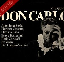 "SANTINI ""VERDI: DON CARLOS"" LP 1970 deutsche grammophon"