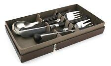 Denby Regency Brown Cutlery Set 2 Knives & Forks 1 Spoon Boxed Stone & Steel