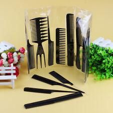 10PCS Salon Hair Styling Comb Set Pro Hairdressing Plastic Barbers Brush QGTD