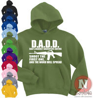 Naughtees Clothing Hoodie Dads Against Daughters Dating Poly Cotton Blend New