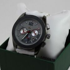 NEW AUTHENTIC LACOSTE PANAMA GRAY WHITE  CHRONOGRAPH MEN'S 2010667 WATCH