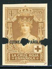Spanish GUINEA IMPERF PROOF: Scott #B11 4P Red Cross WATERLOW $$$