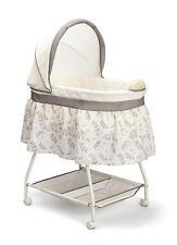 Baby Bassinet Portable Rocking Music Nursery Crib Cradle Sleeper