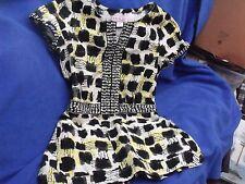 Koi by Kathy Peterson Scrub Top, XS, Black White & Yellow, RN121336, Style 160PR