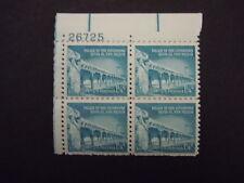 1960 #1031a 1 1/4c Governors Palace Plate Block MNH OG