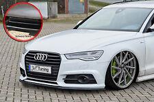 Spoilerschwert Frontspoiler Lippe ABS Audi A6 S6 4G S-Line ABE schwarz glänzend