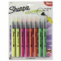 Sharpie Clearview Pen-Style Highlighter, Chisel Tip, Assorted Colors, 8/Pack