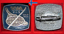 WINTERSPORT SKI NORDISCH ABZEICHEN BADGE FIS WM WC WORLD CHAMPIONSHIPS OSLO 1966