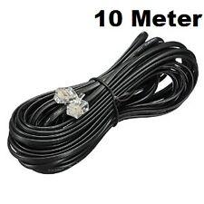 10 Meter RJ11 Telephone Modem Line Cord Cable  Plug to Plug