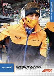2021 TOPPS NOW FORMULA ONE F1 CARD DANIEL RICCIARDO #45 50th FORMULA 1 RACE