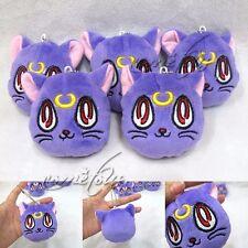 "1pc 3"" Anime Sailor Moon Purple Diana Cat Mini Pendant Plush Toy Stuffed Doll"