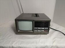 "Vintage General Electric 7-7150A Portable 5"" TV AM FM Radio UHF GE"