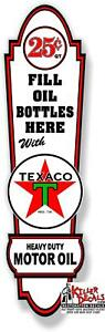"""(TEXA-LUB#2) 24""""X6.3"""" TEXACO FRONT LUBSTER DECAL GAS OIL PUMP, STICKER LUBESTER"""