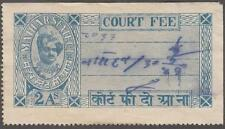India Maihar State Court Fee Revenue K&M #72 used 2A 1942 cv $60