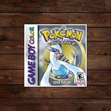 Pokemon Silver Game Boy Color Cover Decal/Sticker