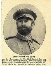 Herero-Aufstand in DSW * Oberstleutnant von Estroff *  Bilddokument 1907