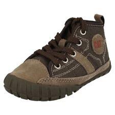 Chaussures marrons à lacets en toile pour garçon de 2 à 16 ans