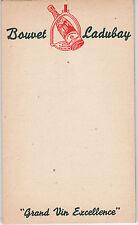 Y367 ancien petit carnet d'Epicier BOUVET LADUBAY Grand Vin d'Excellence