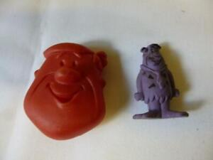1975 Barney Rubble Pebbles Cereal Coin Pouch + Fred Fruity Pebbles Purple Eraser