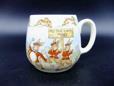 Vintage Bunnykins Mug To The Camp Soldier Bunnies Royal Doulton