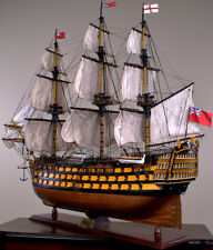 "HMS VICTORY 52"" wood model ship large scaled British sailing boat"