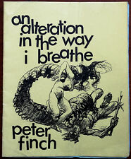 Peter Finch – An Alteration In The Way I Breathe 1970 1st Edition