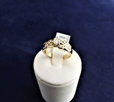 18CT SOLID YELLOW GOLD DIAMOND RING-4.6g-TDW=0.58ct