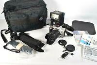 MINT! MINOLTA QTsi MAXXUM 35mm Film Camera w/ Sigma 28-200mm Lens +EXTRAS