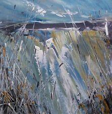 Semi Abstract Landscape Art. Original Acrylic Painting.