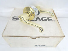 Schlage S280Pd Fla 605 Storeroom Double Locking Intercon. Bright Brass 853Hw