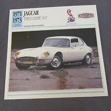 642C Edito Service Fiche Dépliant Jaguar Type E Coupé 2 + 2