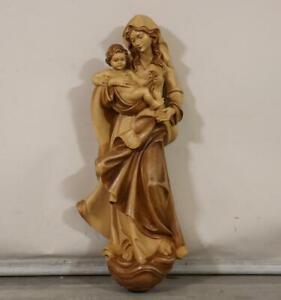 81 cm Maria mit Jesus Kind Holzfigur Fritz Tannheimer Hinterstein (MÖ3486)