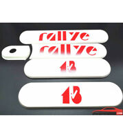 KIT de 5 custodes blanches PEUGEOT 205 RALLYE 1.3