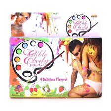 Edible Body Paints Set of 4 w/ Brush - Couples Foreplay Fun