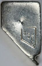 SSB Silver State Bullion of Nevada 5.30 oz .999 Fine Silver Poured Bar / Ingot