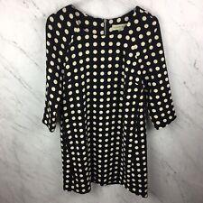 a72e6a93b026 Lili Wang Dress XS Womens Nightsnow Black Polka Dot Shift Dress